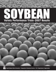 2007 Soybean Results Variety Performance Trials - iGrow