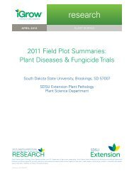 2011 Field Plot Summaries: Plant Diseases & Fungicide Trials - iGrow