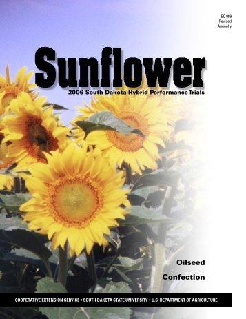 Sunflower: 2006 South Dakota Hybrid Performance Trials - iGrow