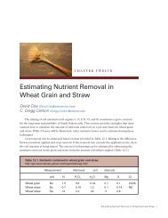 Estimating Nutrient Removal in Wheat Grain and Straw - iGrow