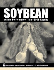 2008 Soybean Results Variety Performance Trials - iGrow