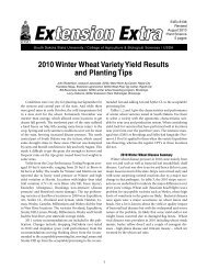 2010 Winter Wheat Variety Yield Results and Planting Tips