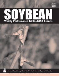2009 Soybean Results Variety Performance Trials - iGrow