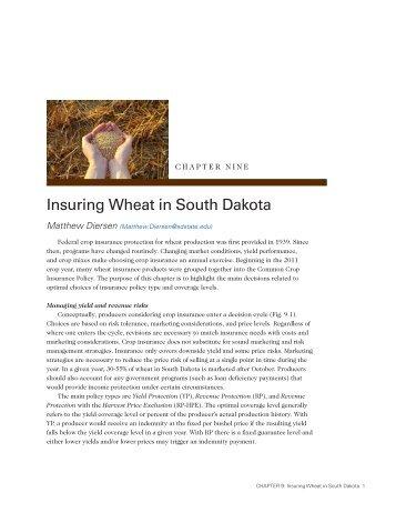 CHAPTER 9: Insuring Wheat in South Dakota - iGrow