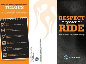 Office of Highway Safety Motorcycle Brochure