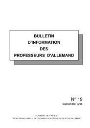 Bulletin N° 19 - Allemand @ Créteil - Académie de Créteil