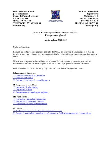 Cursus int gr franco allemand - Office allemand d echanges universitaires ...