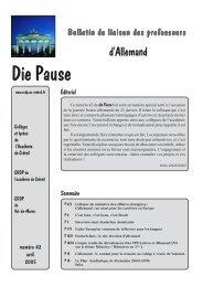 Die Pause n° 42 - Allemand @ Créteil - Académie de Créteil