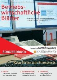Betriebs- wirtschaftliche Blätter - MW Bergen Bryggen