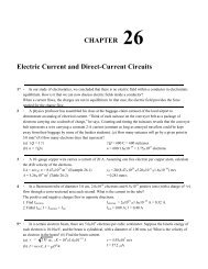 CHAPTER 26 Electric Current and Direct-Current Circuits