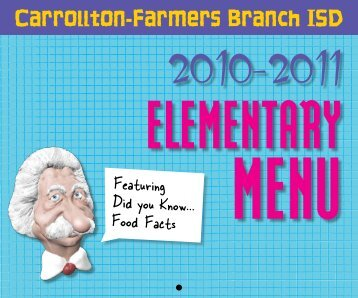 2010-2011 Primary Lunch Menu - Carrollton-Farmers Branch Staff ...