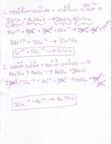 Net Ionic Equations Worksheet - lovesongdesigns