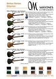 Setius Series Gitarren
