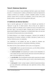 Tema 6: Sistemas Operativos - sabia
