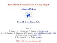 New differential equations for on-shell loop integrals Johannes M ...