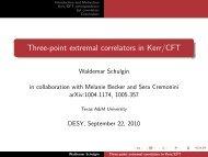 Three-point extremal correlators in Kerr/CFT - Desy