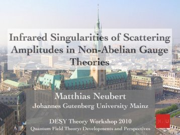 Infrared Singularities of Scattering Amplitudes in Non-Abelian ...