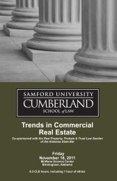 Trends in Commercial Real Estate - Cumberland School of Law ...