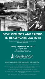 TEST HEALTH.pdf - Cumberland School of Law - Samford University