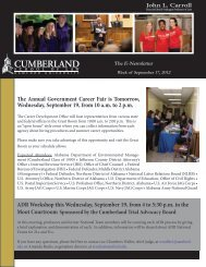 here - Cumberland School of Law - Samford University