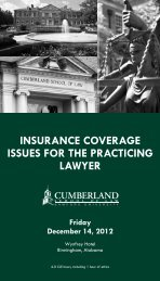 insurance coverage issues for the practicing lawyer - Cumberland ...