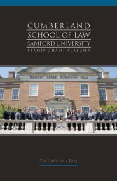 View the brochure - Cumberland School of Law - Samford University