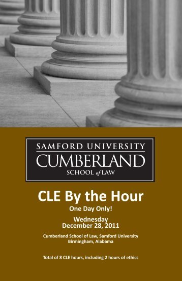 CLE By the Hour - Cumberland School of Law - Samford University