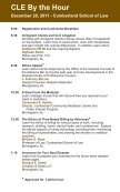CLE By the Hour - Cumberland School of Law - Samford University - Page 2