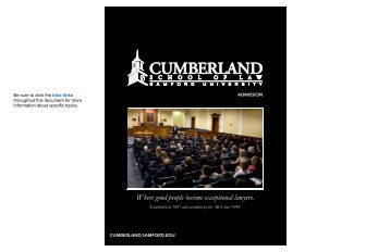 Where good people become exceptional lawyers. - Cumberland ...