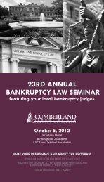 23RD ANNUAL BANKRUPTCY LAW SEMINAR - Cumberland ...