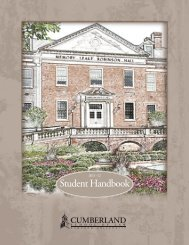 Student Handbook - Cumberland School of Law - Samford University