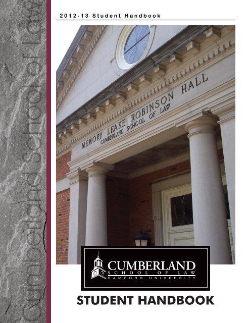 STUDENT HANDBOOK - Cumberland School of Law - Samford ...