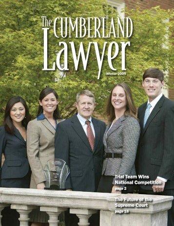 Winter 2009 - Cumberland School of Law - Samford University