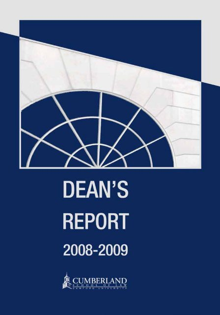 2008-2009 Dean's Report - Cumberland School of Law - Samford ...