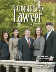 Winter 2009 - Cumberland School of Law - Samford University