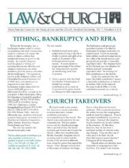 tithing, bankruptcy and rfra - Cumberland School of Law - Samford ...