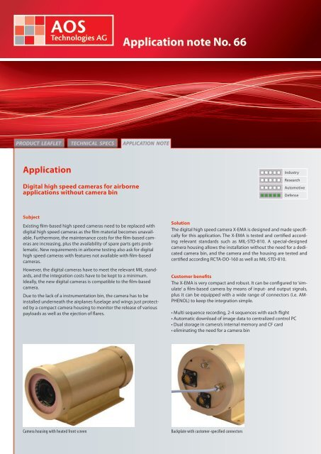 Application note No. 66 - AOS Technologies AG
