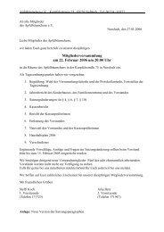 Tagesordnung & Unterlagen - Apfelbäumchen Nußloch