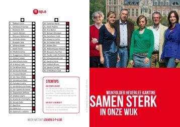 in onze wijk in onze wijk - Leuven - SP.a