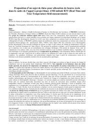 Proposition d'un sujet de thèse pour allocation de ... - enstimac.fr...