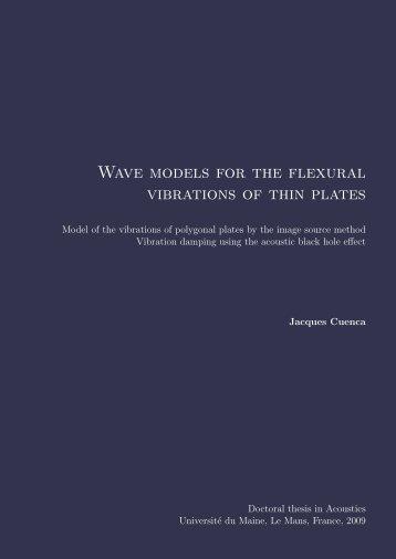 Wave models for the flexural vibrations of thin plates - Université du ...