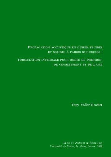 Propagation acoustique en guides fluides et solides à parois ...