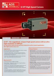 Q-VIT High Speed Camera - AOS Technologies AG
