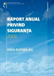 raport anual privind siguran?a 2009 - European Aviation Safety ...