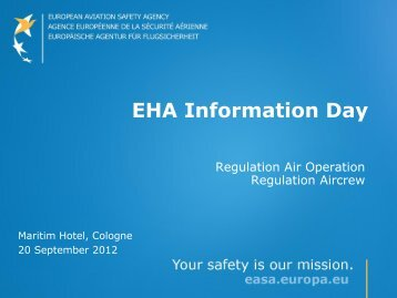 presentations - European Aviation Safety Agency - Europa