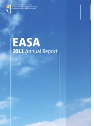 2011 Annual Report - European Aviation Safety Agency - Europa