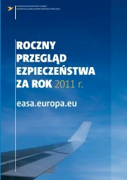 roczny przegl?d ezpiecze?stwa za ROK 2011 r. - European Aviation ...