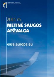 2011 m. metin? saugos ap?valga - European Aviation Safety ...
