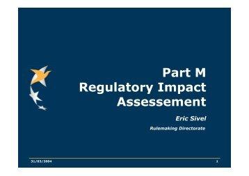 Part M Regulatory Impact Assessement - European Aviation Safety ...