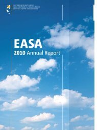 Annual Report 2010 - European Aviation Safety Agency - Europa